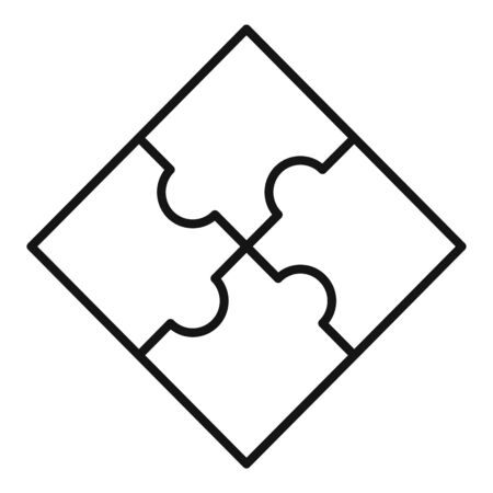Sequence puzzle icon, outline style Stock Illustratie