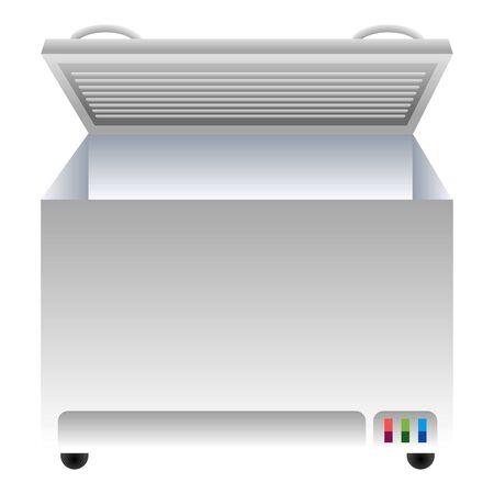 Icono de congelador, estilo de dibujos animados
