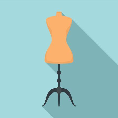 Mannequin dressmaker icon. Flat illustration of mannequin dressmaker vector icon for web design