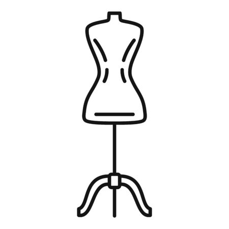 Mannequin icon. Outline mannequin vector icon for web design isolated on white background
