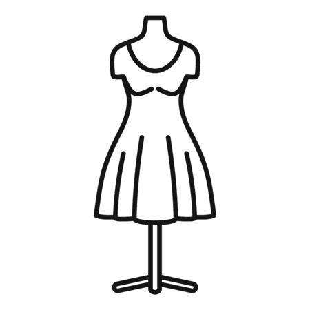 Atelier mannequin icon. Outline atelier mannequin vector icon for web design isolated on white background