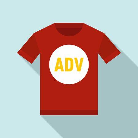 Advertising tshirt icon. Flat illustration of advertising tshirt vector icon for web design