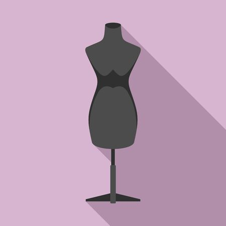 Mannequin icon. Flat illustration of mannequin vector icon for web design