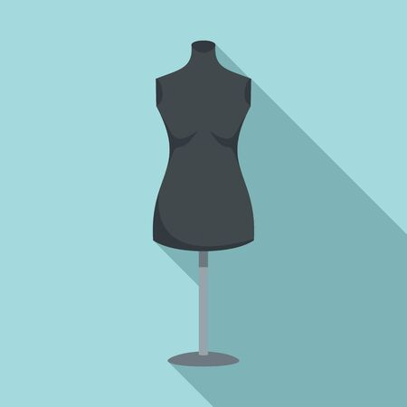 Empty mannequin icon. Flat illustration of empty mannequin vector icon for web design