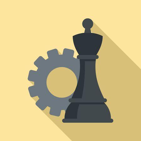 Advertising strategy icon. Flat illustration of advertising strategy vector icon for web design