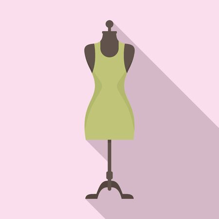 Beauty mannequin icon. Flat illustration of beauty mannequin vector icon for web design 일러스트