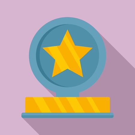 Star ad cup icon. Flat illustration of star ad cup vector icon for web design Ilustrace