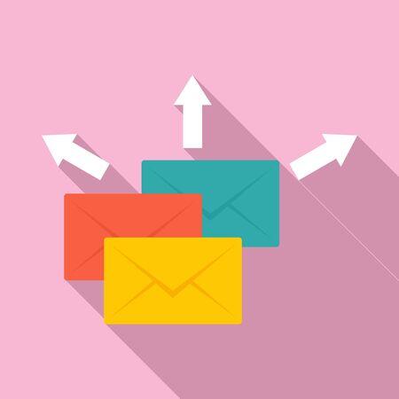Mail send icon, flat style Illusztráció