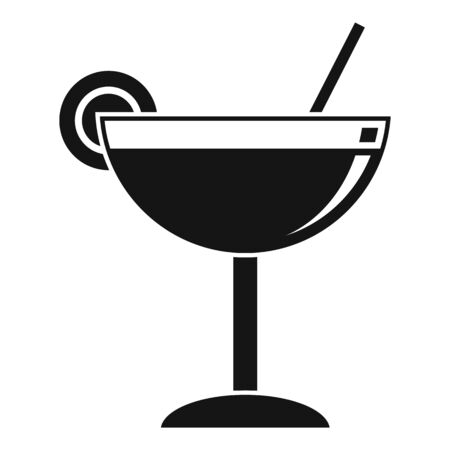 Cocktail icon. Simple illustration of cocktail vector icon for web design isolated on white background Stock Illustratie
