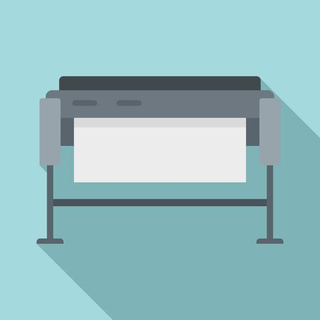 Plotter icon. Flat illustration of plotter vector icon for web design