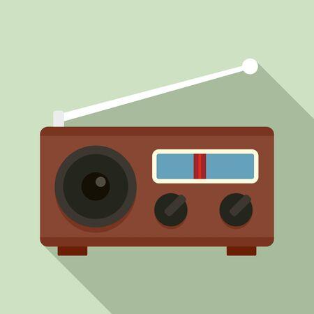 Radio icon. Flat illustration of radio vector icon for web design