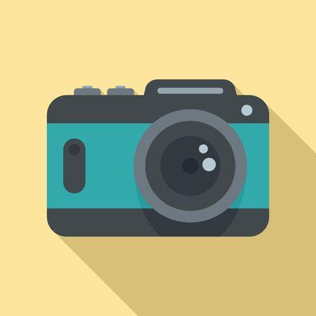 Icono de cámara. Ilustración plana del icono de vector de cámara para diseño web