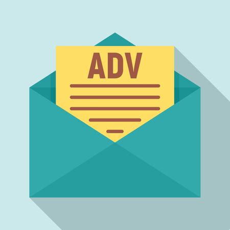 Advertising mail icon. Flat illustration of advertising mail vector icon for web design