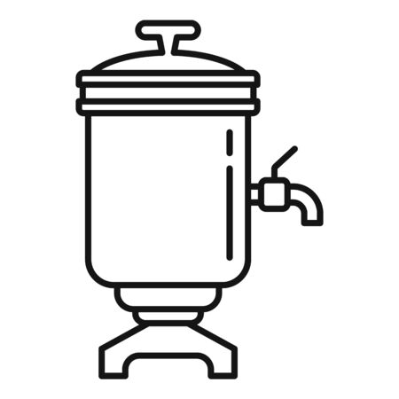 Tea cuisine icon. Outline tea cuisine vector icon for web design isolated on white background Stock Vector - 138834801