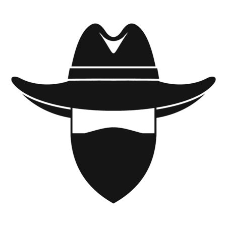 Desert cowboy icon. Simple illustration of desert cowboy vector icon for web design isolated on white background