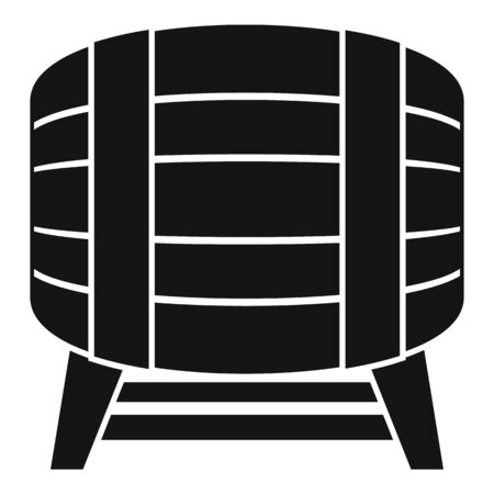 Drink barrel icon. Simple illustration of drink barrel vector icon for web design isolated on white background