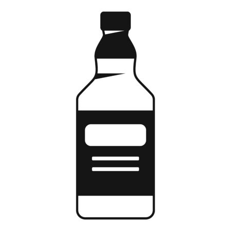 Whiskey bottle icon. Simple illustration of whiskey bottle vector icon for web design isolated on white background Иллюстрация