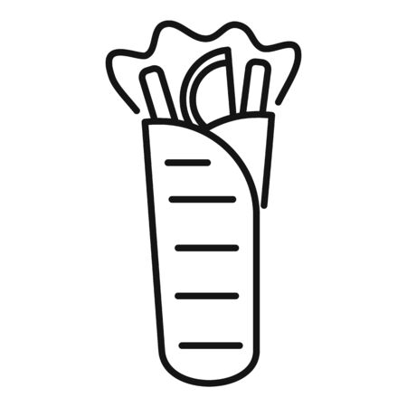 Kebab icon, outline style