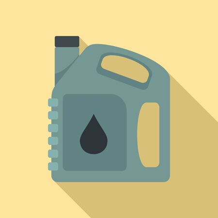 Auto motor oil icon. Flat illustration of auto motor oil vector icon for web design Vectores
