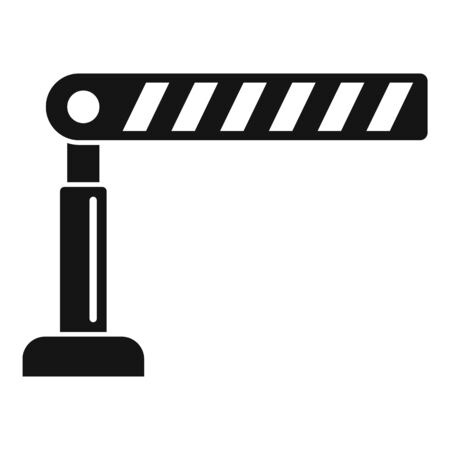Parking barrier icon, simple style