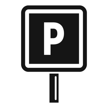 Parking road sign icon. Simple illustration of parking road sign vector icon for web design isolated on white background