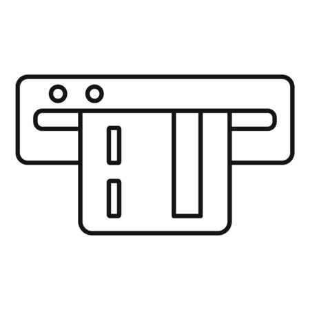 Card parking payment icon, outline style