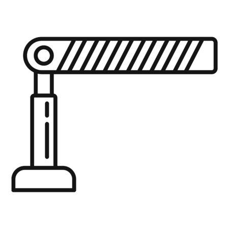Ikona bariery parkingowej, styl konturu