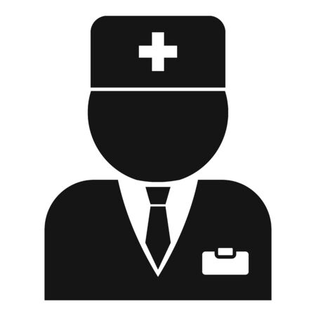 Hospital doctor icon, simple style