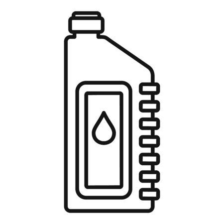 Icona dell'olio motore bici. Profilo bici olio motore icona vettoriali per il web design isolato su sfondo bianco