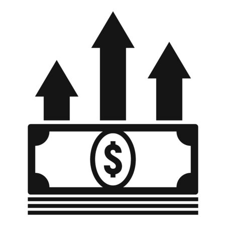 Cash money loan icon, simple style