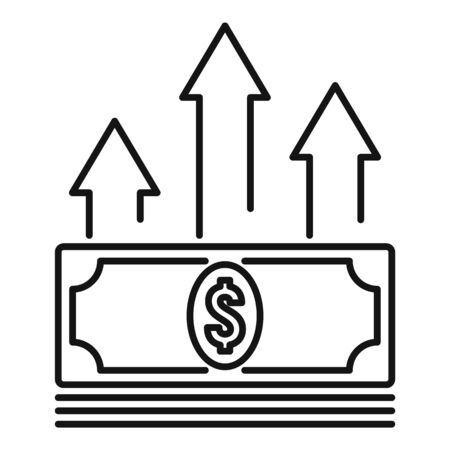 Cash money loan icon, outline style