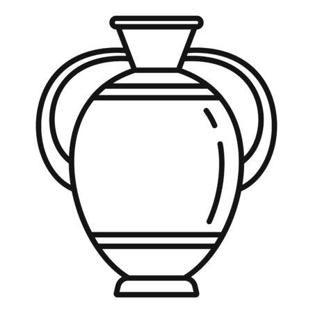NAME icon. Outline NAME vector icon for web design isolated on white background Ilustración de vector