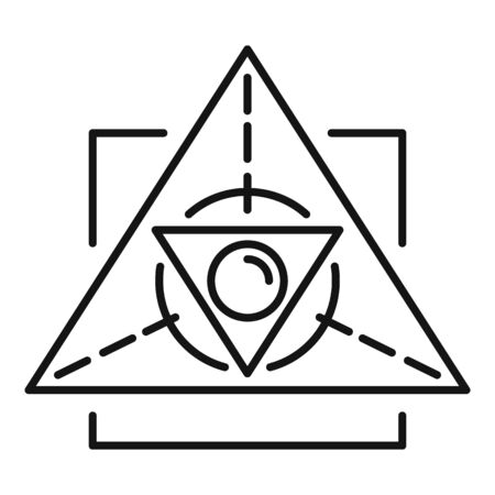 Magic alchemy triangle icon. Outline magic alchemy triangle vector icon for web design isolated on white background