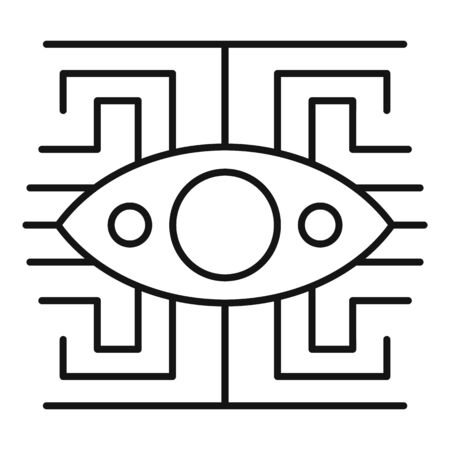 Labyrinth eye icon. Outline labyrinth eye vector icon for web design isolated on white background  イラスト・ベクター素材