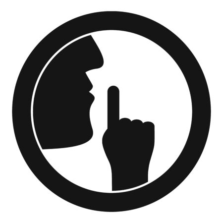 Silence icon, simple style