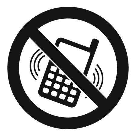 No smartphone ringing icon. Simple illustration of no smartphone ringing vector icon for web design isolated on white background