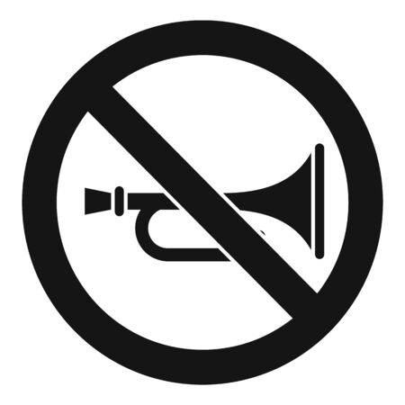 No trumpet music icon. Simple illustration of no trumpet music vector icon for web design isolated on white background