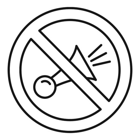 No honk icon. Outline no honk vector icon for web design isolated on white background