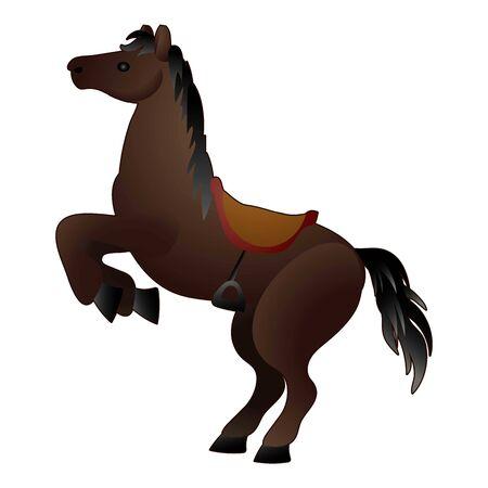 Western horse icon, cartoon style Stock Illustratie