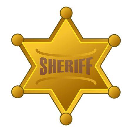 Sheriff star icon, cartoon style Ilustración de vector