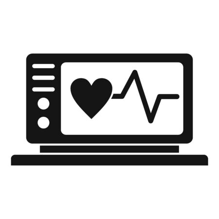 Electrocardiogram icon. Simple illustration of electrocardiogram vector icon for web design isolated on white background