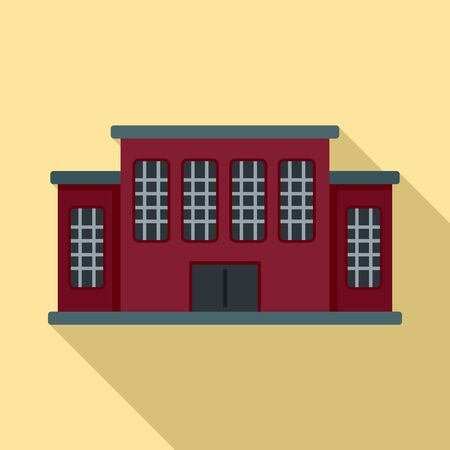 Tribunal building icon. Flat illustration of tribunal building vector icon for web design Stock Illustratie