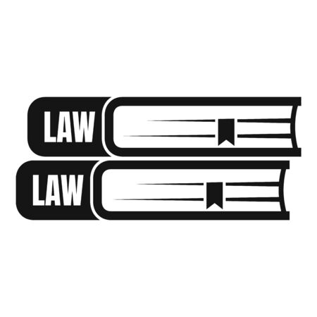 Law book icon. Simple illustration of law book vector icon for web design isolated on white background 向量圖像