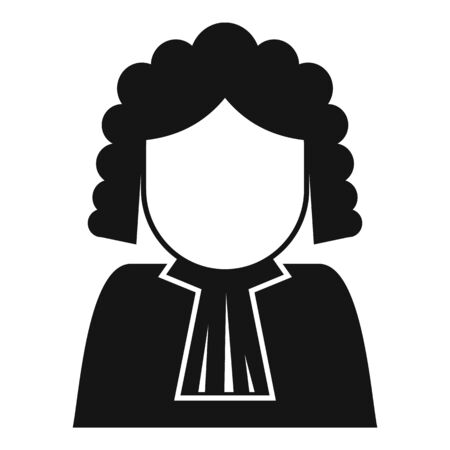 Judge avatar icon, simple style