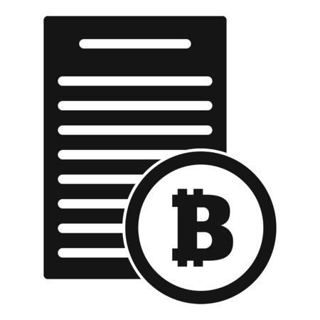 Bitcoin paper icon. Simple illustration of bitcoin paper vector icon for web design isolated on white background