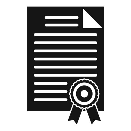 Judge diploma icon. Simple illustration of judge diploma vector icon for web design isolated on white background