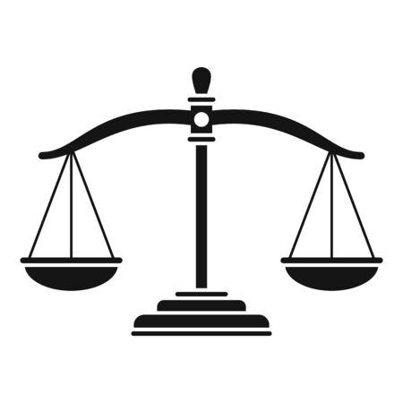 Judge balance icon, simple style Ilustrace