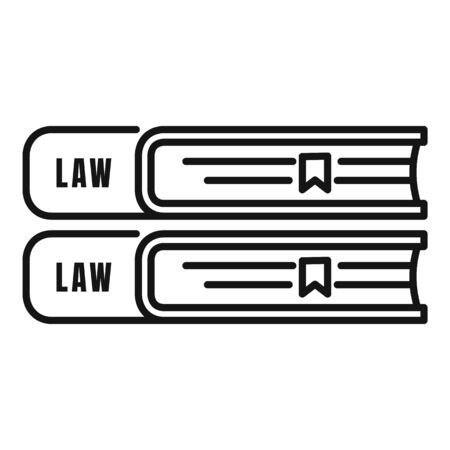 Law book icon, outline style