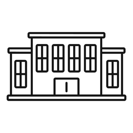 Tribunal building icon, outline style Stock Illustratie