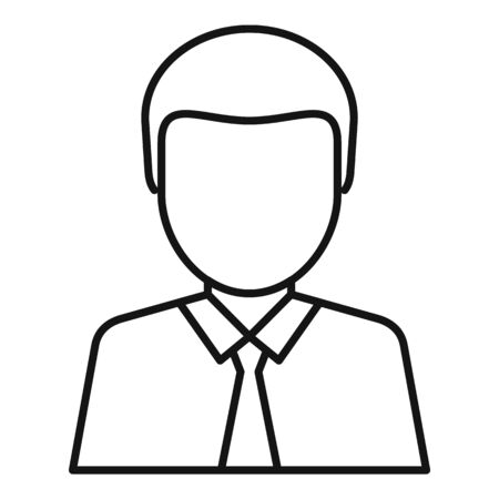 Lawyer avatar icon, outline style